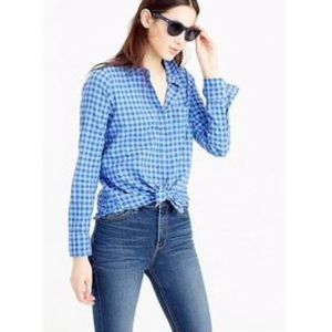 J. Crew Boy shirt in two-tone crinkle gingham